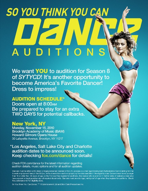 So you think you can dance auditions New Yok