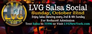 lvg salsa social nyc October 22nd