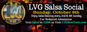 lvg salsa social nyc October 8th