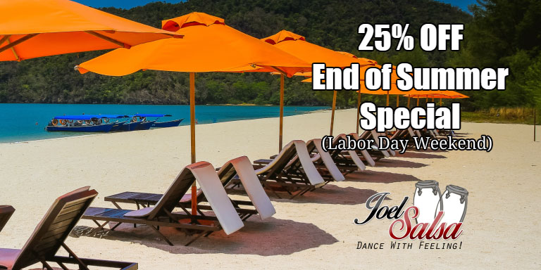 All classes 25% off at JoelSalsa - Labour Day- Summer Special