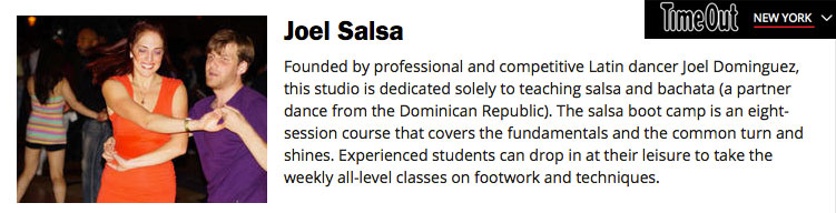 joelsalsa description on timeout New york