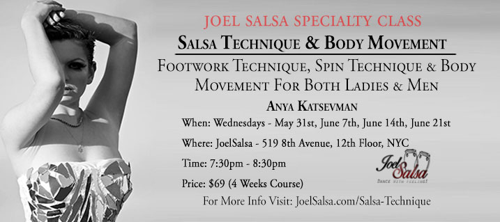 salsa technique body movement workshop at JoelSalsa NYC