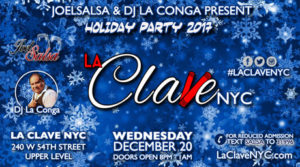 la clave nyc salsa social event-December 20th