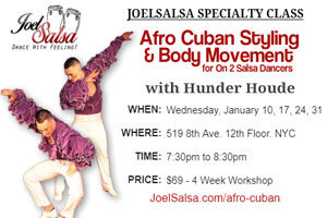 Afro Cuban Styling workshop by Hunder houde