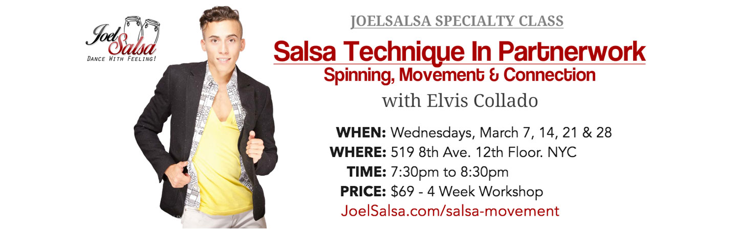 salsa technique & partnerwork JoelSalsa Specialty Class on March 2018