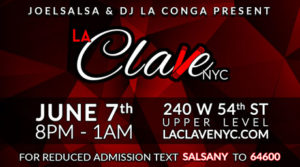 la clave nyc salsa social event June 7th