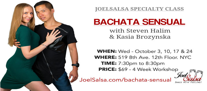 Bachata Sensual workshop at JoelSalsa NYC October 2018
