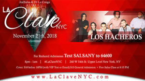la clave nyc salsa social event November 21st