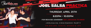 dance party April 25th 2019 in JoelSalsa at NYC