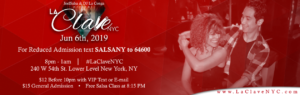 La Clave NYC Salsa Social event at NYC on 6th June 2019