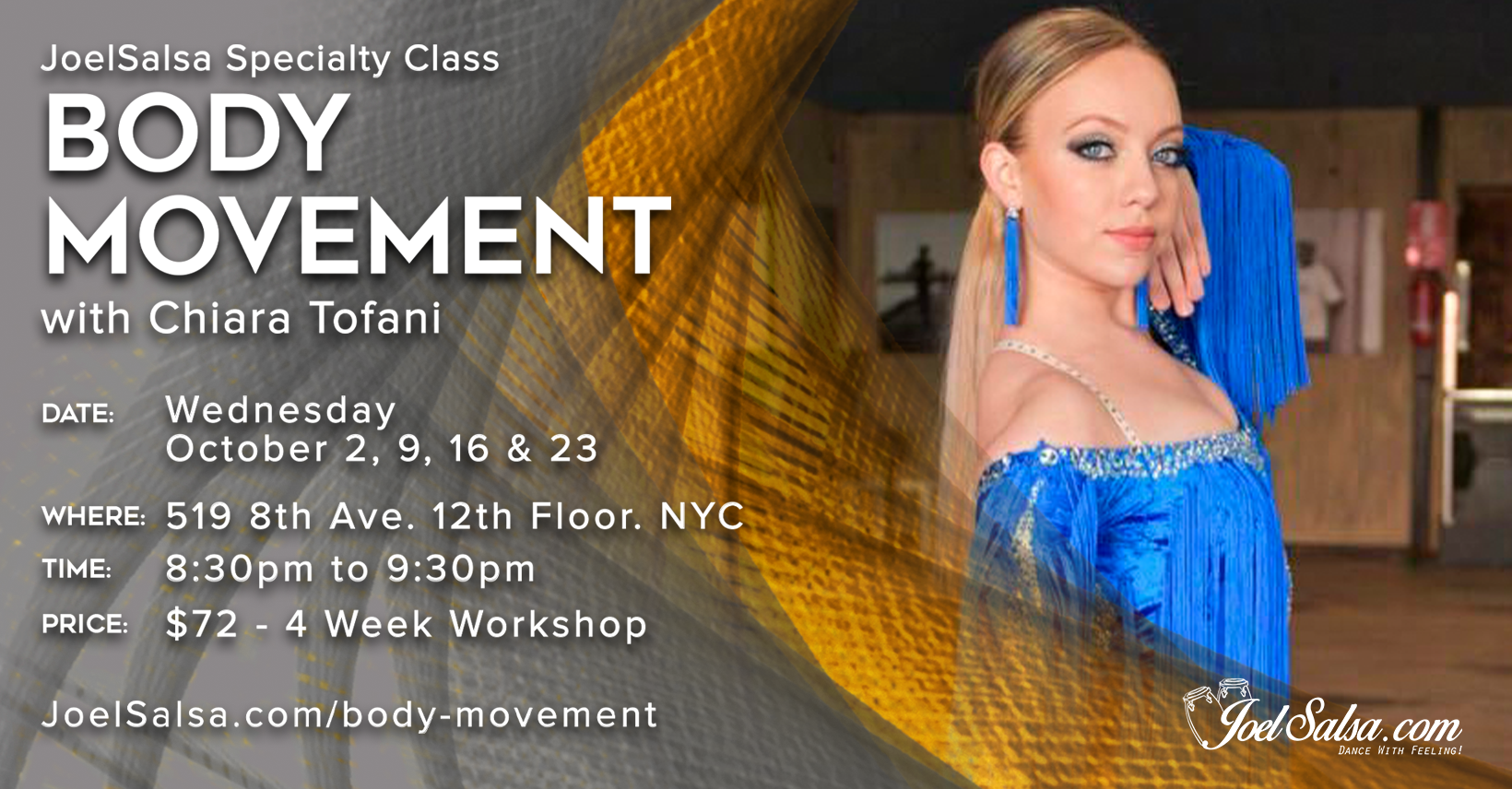 Body Movement with Chiara Tofani - JoelSalsa October Specialty workshop