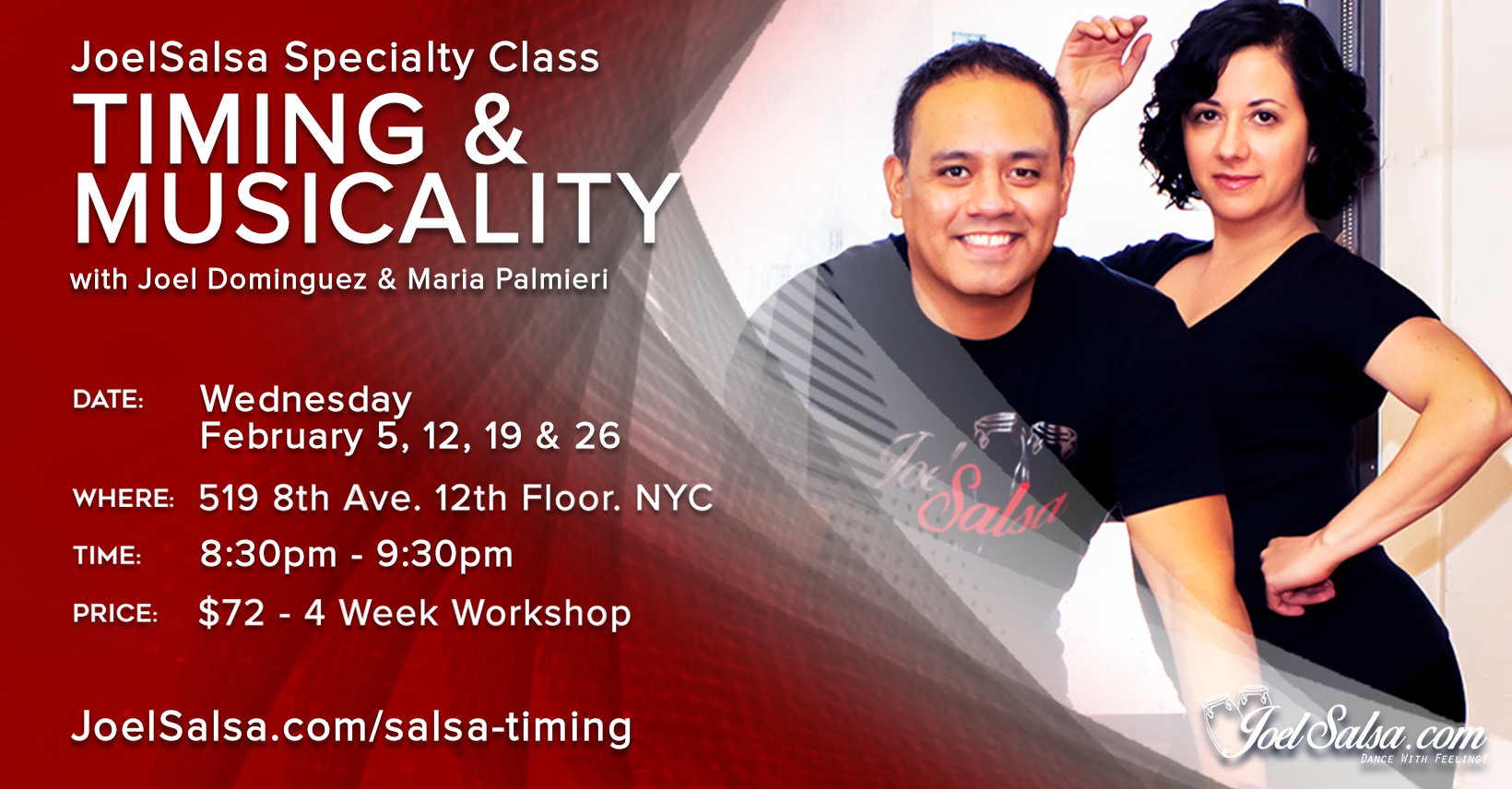 Timing & Musicality with Joel Dominguez & Maria Palmieri