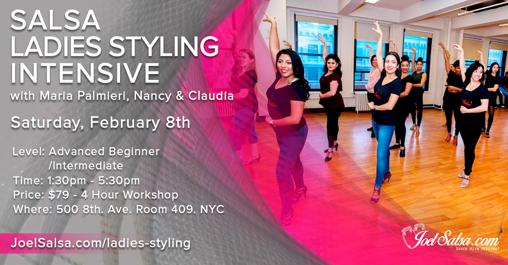 Salsa Ladies Styling Intensive workshop on February 8th 2020