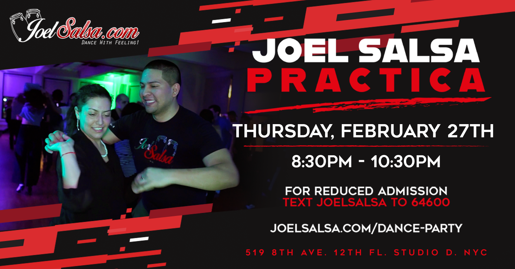 Joel Salsa Practica Dance Party on Thursday February 27th 2020